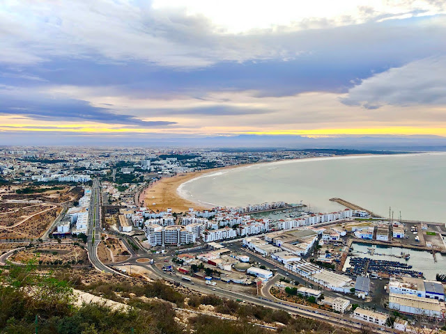 A view of the town of Agadir in Morocco