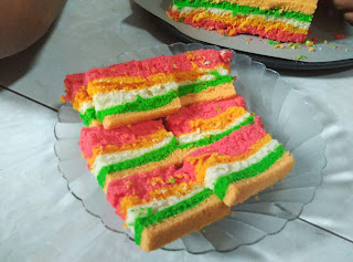 Resep Rainbow Cake Lembut
