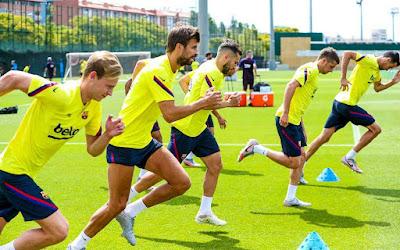 صور.. برشلونة يبدأ الاستعداد لمواجهة ليجانيس اليوم