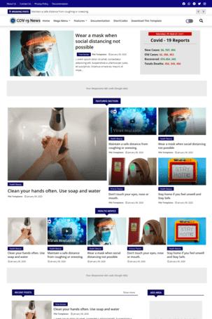 COV-19 News  blogger template