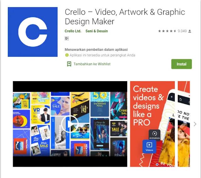 Aplikasi Membuat Poster - Crello