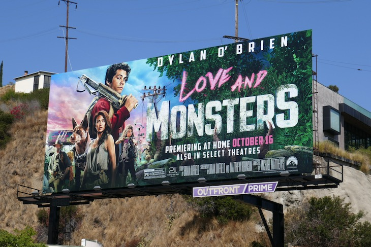 Love and Monsters movie billboard