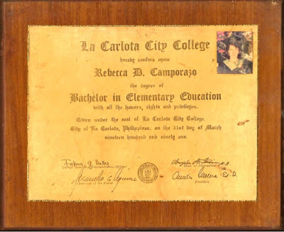 Rebing's Diploma 1991