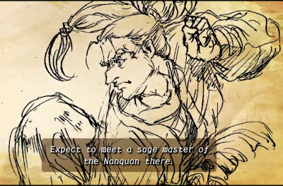 """Still capture from the Shenmue III Kickstarter video: the """"sage master of Nanquan"""""""