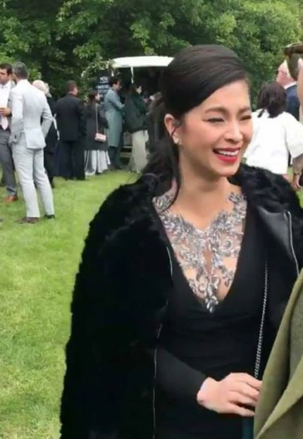 Angel Locsin Looked Stunning and Hot in her Black Outfit in Anne Curtis and Erwan Heussaff's Wedding!