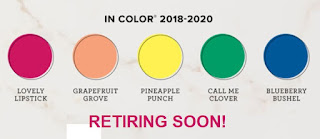 Stampin' Up! 2018-2020 In Colors -- Retiring Soon!!