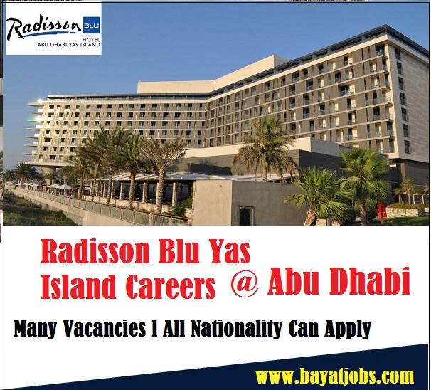 Radisson Blu Abu Dhabi Yas Island Career | Bayat Jobs