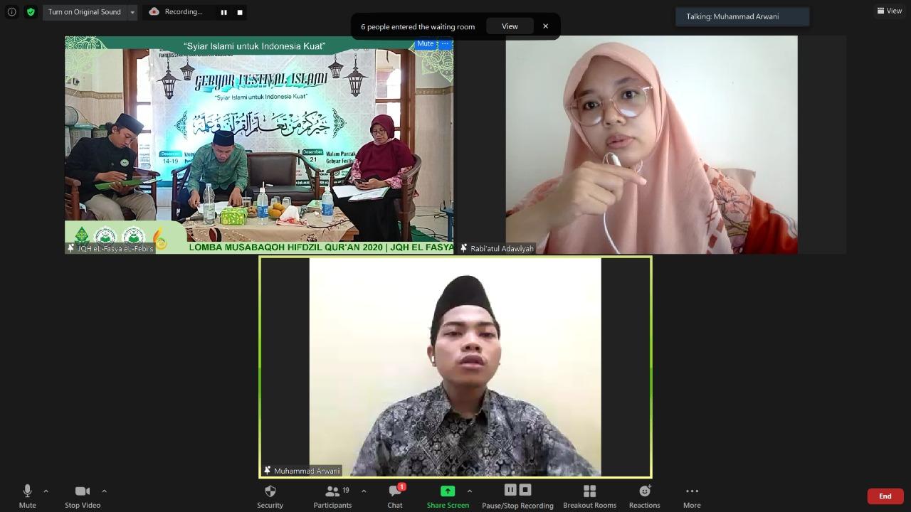 Musabaqah Hifdzil Qur'an Virtual Tingkat Nasional
