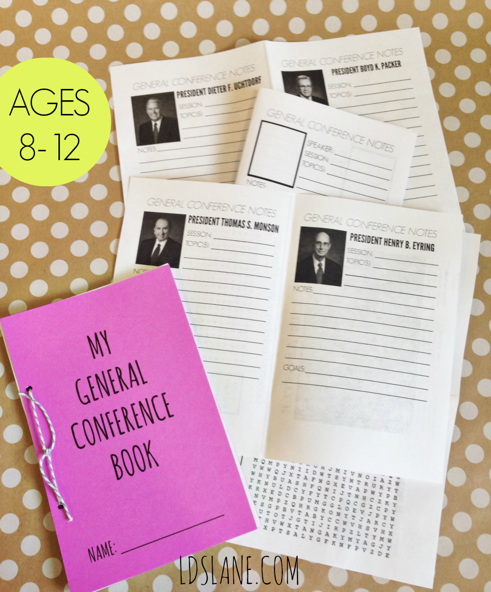 General Conference Mini Book Download by ldslane.com - Older Children Version