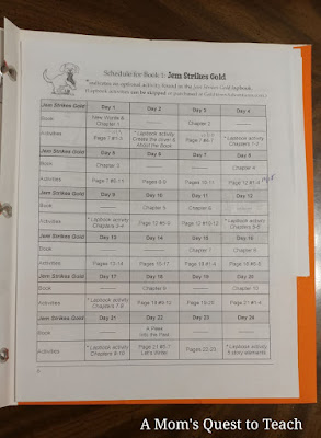 schedule for Jem Strikes Gold book