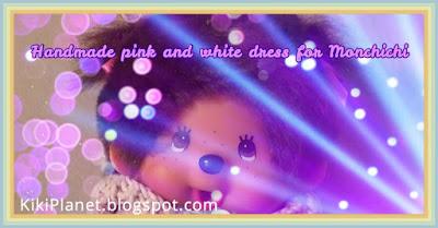 kiki monchhichi robe dress couture sewing doll handmade fait main vêtement