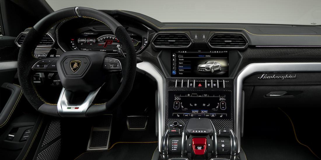 Il sistema di Infotainment del SUV Lamborghini Urus
