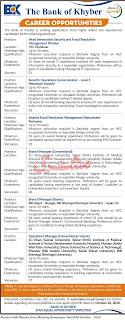 BOK Jobs 2020 - Latest Jobs in Bank of Khyber KPK Apply Online for BOK Jobs October 2020