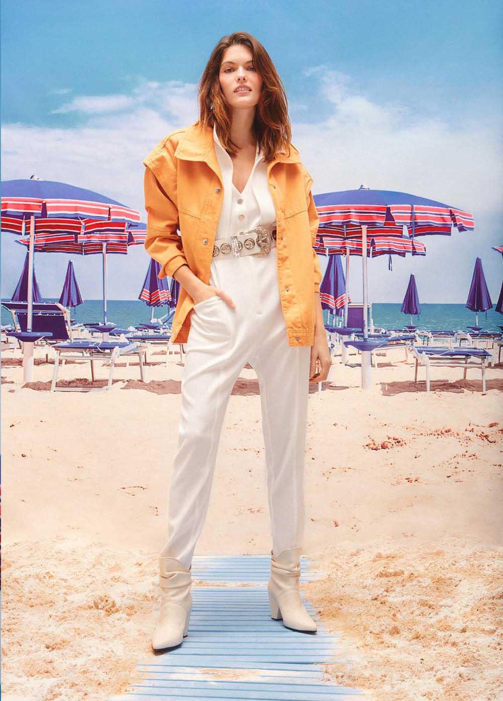 Camperas de jeans de colores verano 2021