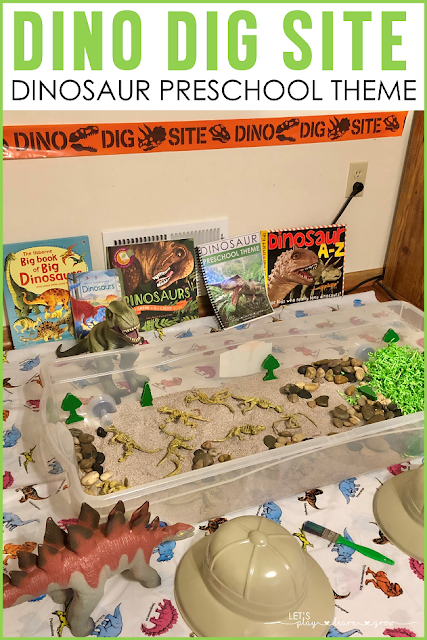 Dino Dig Site Preschool Dramatic Play