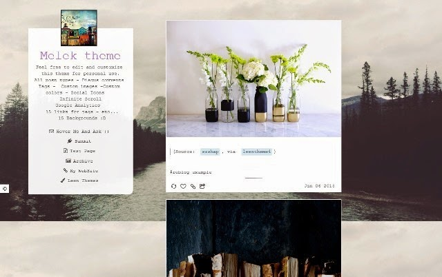 Melek - Free Tumblr Theme for Personal
