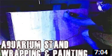 How To Wrap and Paint Aquarium Stand