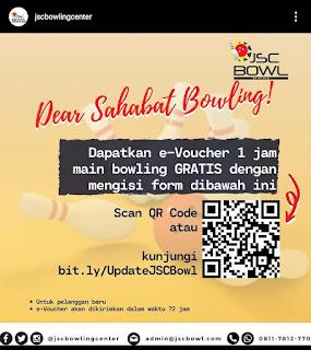 Voucher bowling gratis