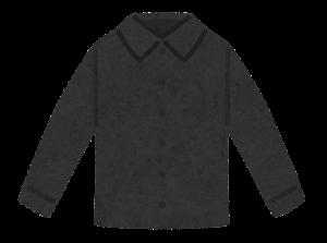 シャツのイラスト(黒)