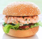 Hamburguesa de salmón de Noruega