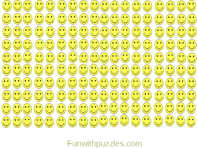 Odd One Out Picture Puzzle Emoji Smiling