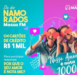 Promoção dia dos namorados 2020 Massa FM