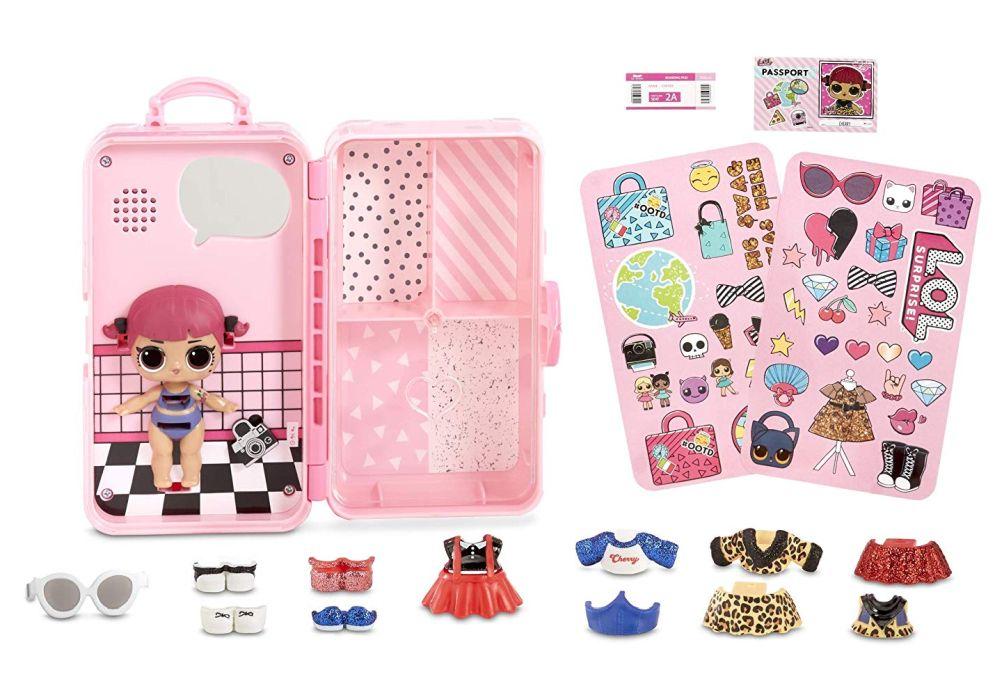 Розовый чемоданчик с куклой Лол Cherry и одеждой L.O.L. Style Suitcase