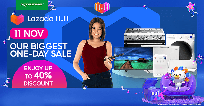 XTREME Appliances to participate in 11.11 sale, will offer up to 40 percent price cut!