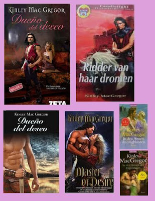 portadas de la novela romántica histórica de highlanders Dueño del deseo, de Kinley Mac Gregor