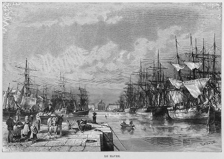 Climbing My Family Tree: Port of Le Havre, France mid-19th Century