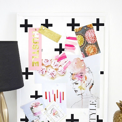 DIY Geometric Bulletin Board Tutorial