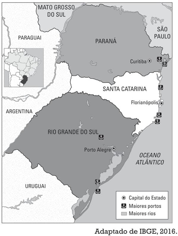 região com importantes instalações portuárias para atender à dinâmica do comércio internacional brasileiro