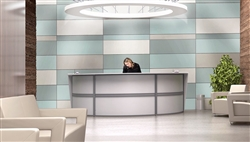 OFM Marque Series White Reception Desk