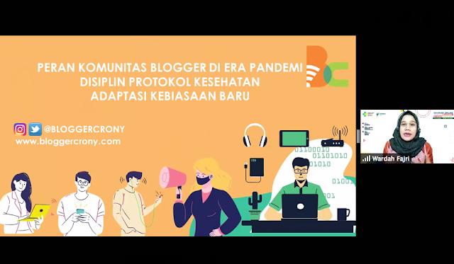 Peran komunitas blogger di masa pandemi