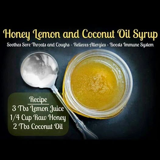 hover_share weight loss - honey lemon and coconut oil syrup