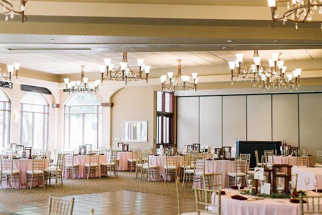 wedding reception ballroom view