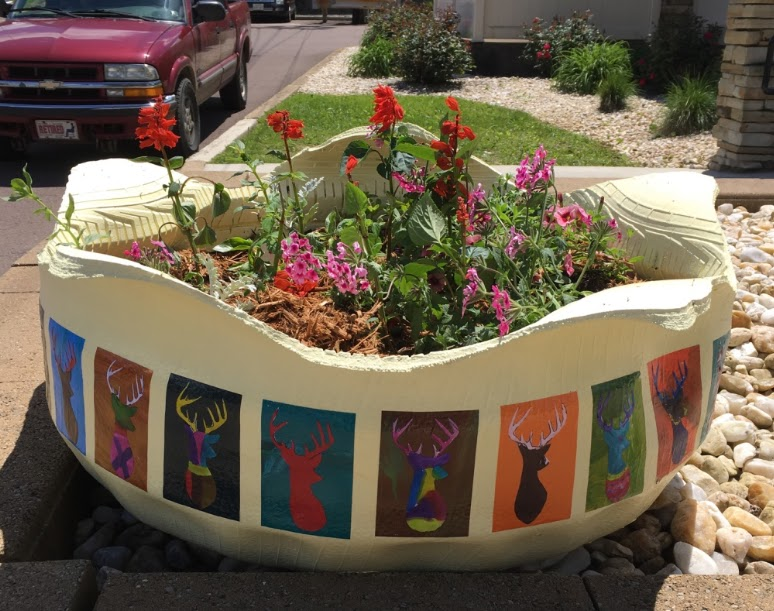 Regina holliday 39 s medical advocacy blog how to make a for How to make a tire garden