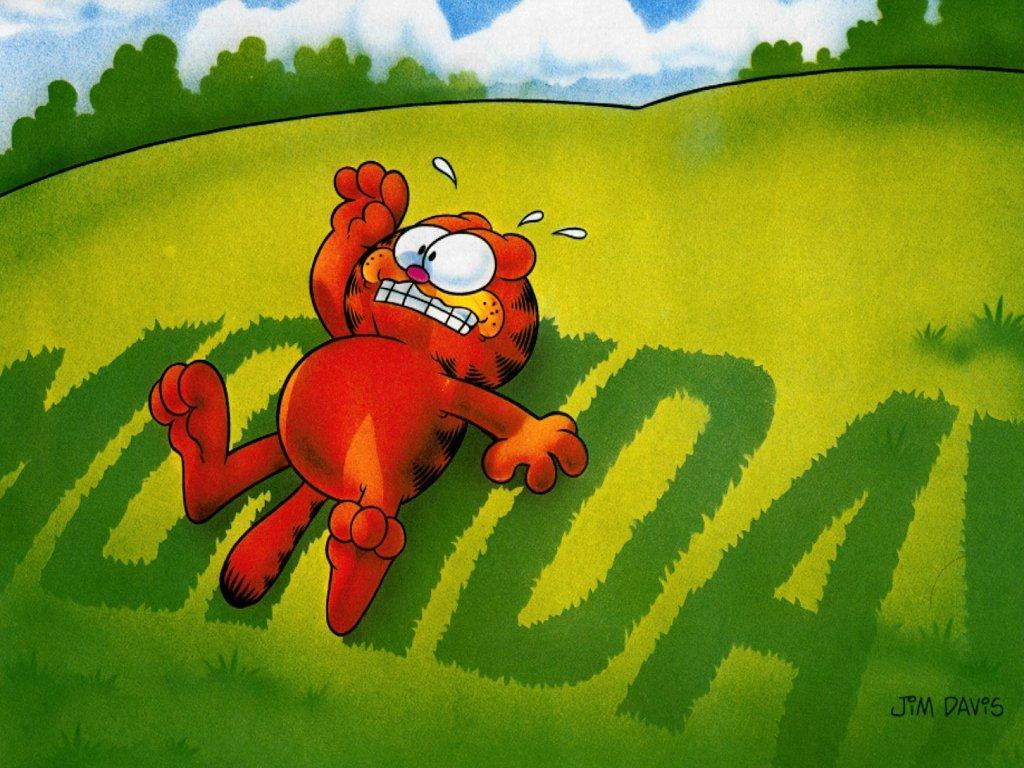 Cute garfield wallpaper and coloring pages - Monday wallpaper ...