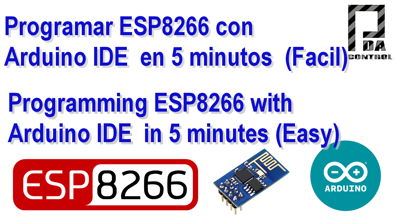 ESP8266 program with Arduino IDE in 5 minutes - PDAControl