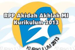 RPP Akidah Akhlak MI Kurikulum 2013 Lengkap