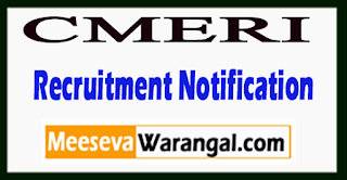 CMERI Central Mechanical Engineering Research Institute Recruitment Notification 2017 Last Date 06-07-2017