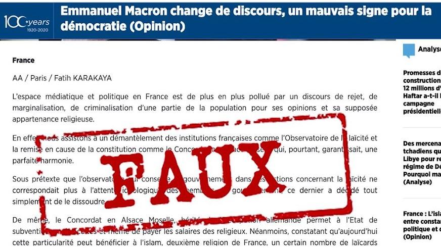 Η Γαλλία κατηγορεί το Anadolu για προπαγάνδα