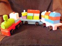 penyedia, produsen, pengrajin, penjual, distributor, supplier balok kereta api dan berbagai macam jenis mainan alat peraga edukatif edukasi anak tk dan paud (APE) playground atau media belajar anak-anak,