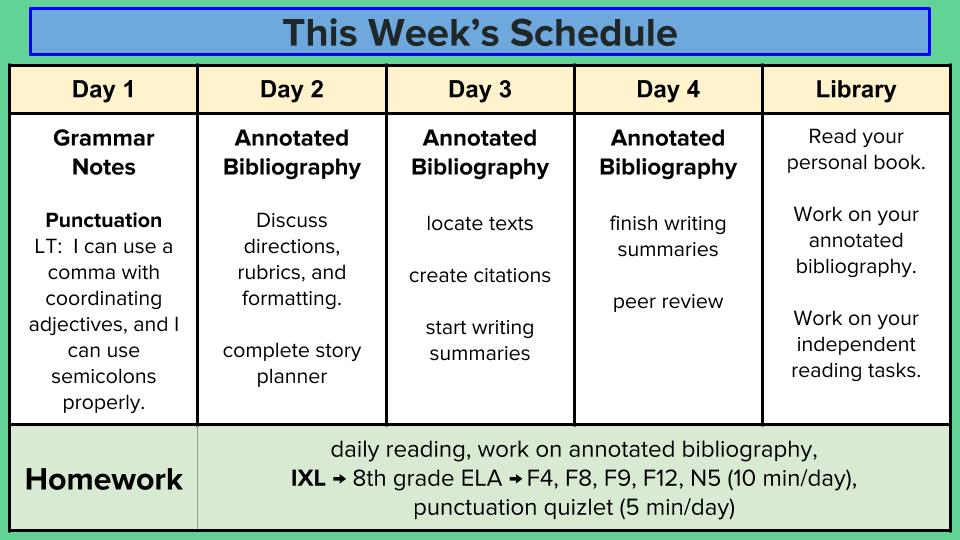 Ms. Black\'s 8th Grade ELA Blog: Week of March 19th