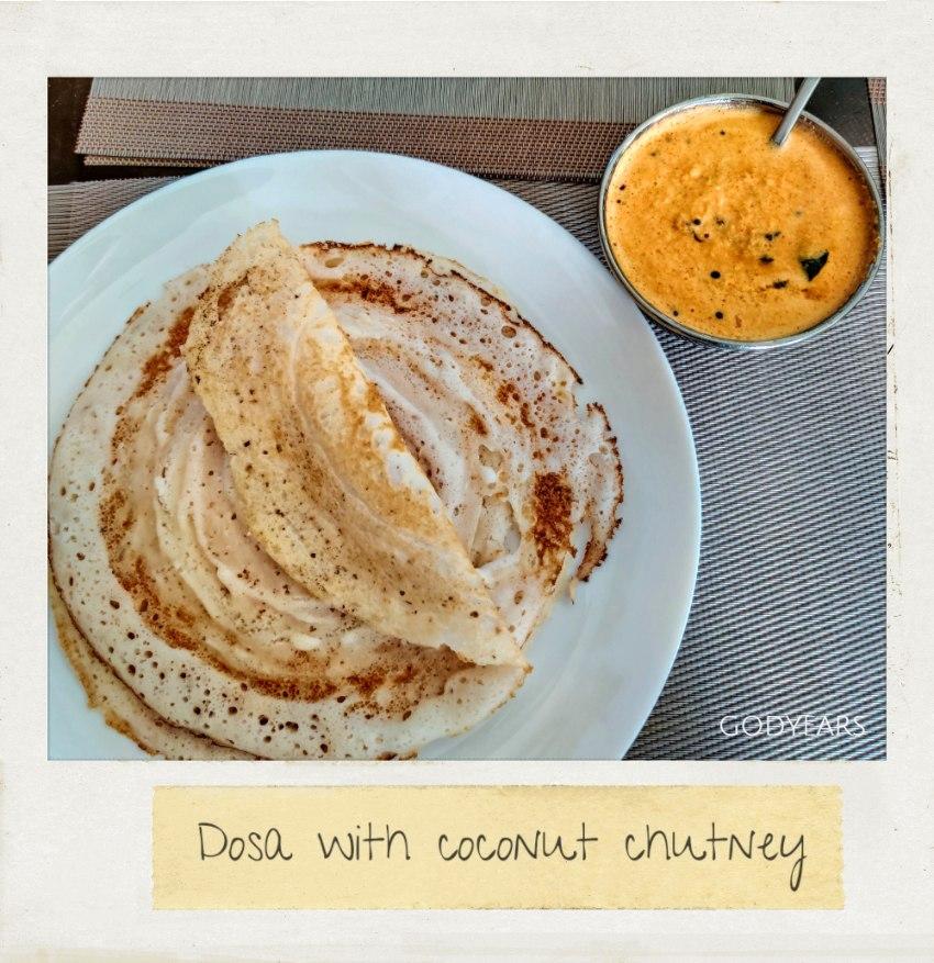 Kerala breakfast - dosa