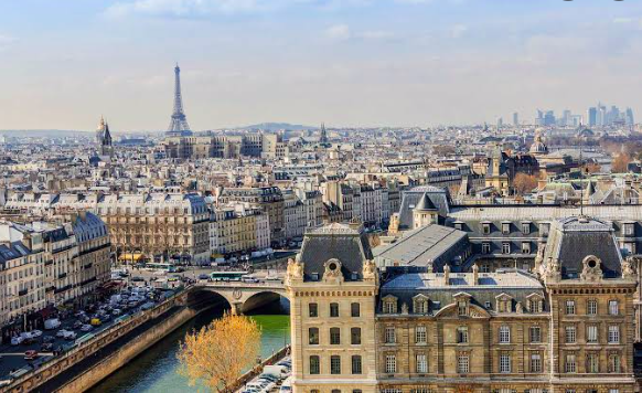 The City Of Paris With The Eiffel Tower