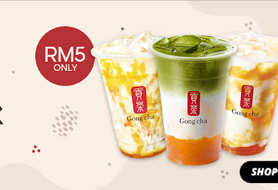 GONG CHA INTRODUCES ITS FIRST-EVER e-DRINK SERIES WITH SHOPEE