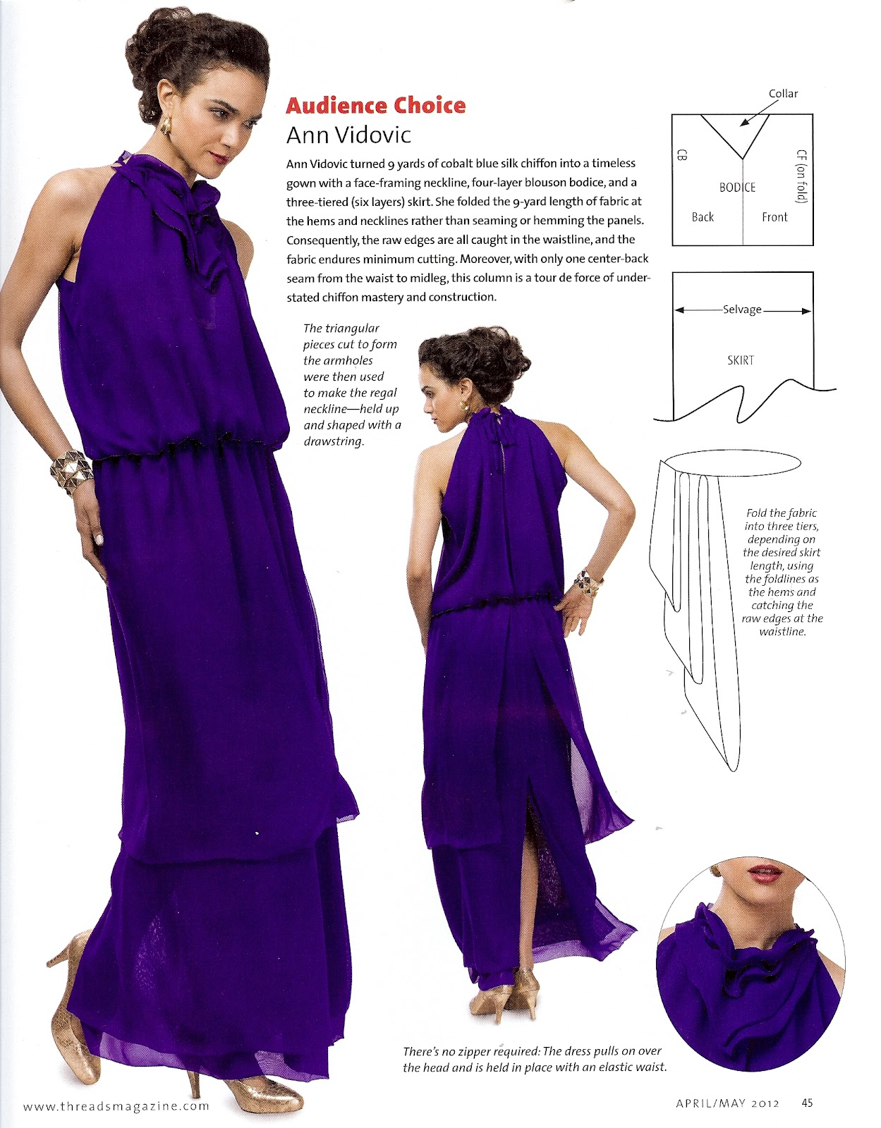 Did You Really Sew That?: Zero Waste Evening Gown