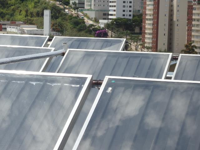 aquecimento solar de água em edifícios
