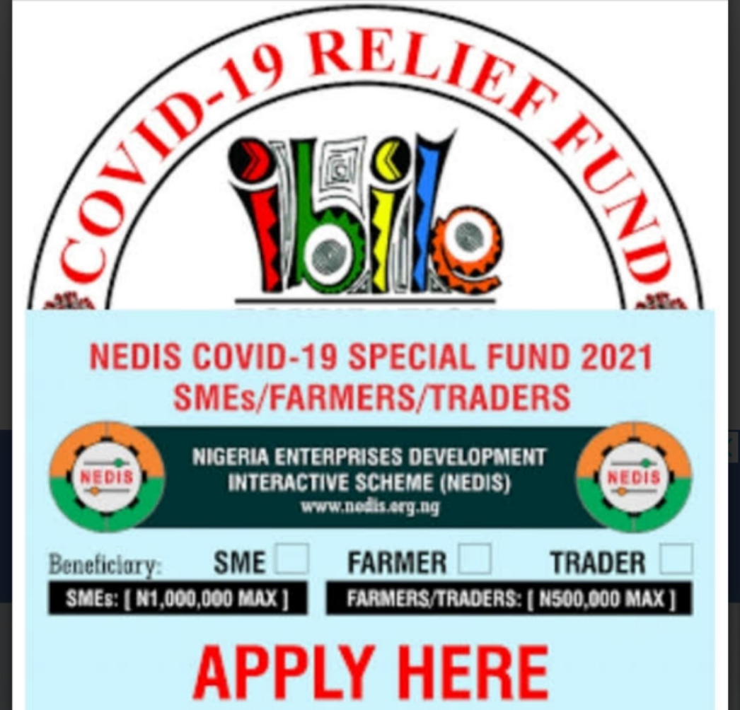 JUST OPEN: Apply NEDIS COVID-19 Special Fund 2021 SMEs|Farmers|Traders